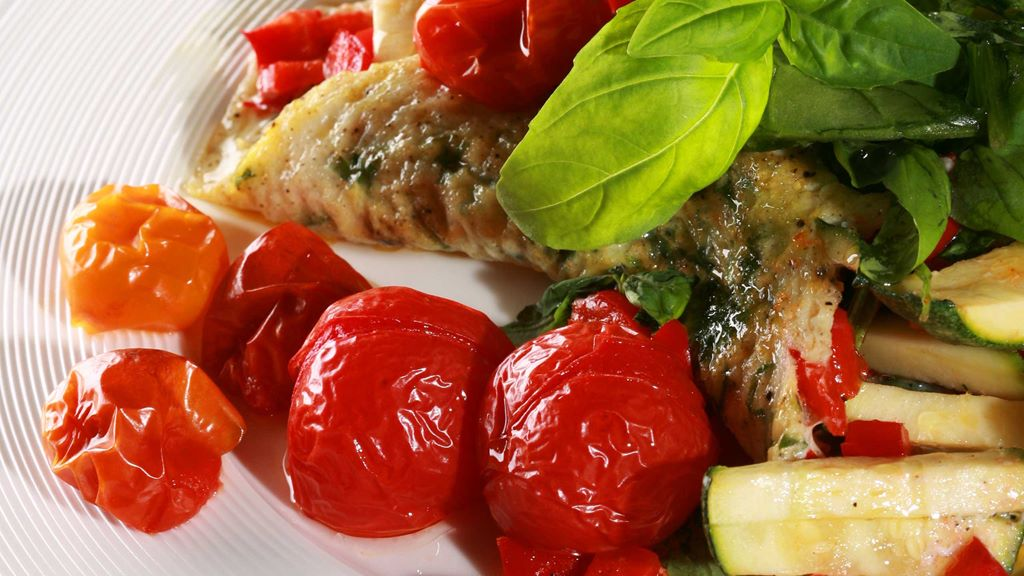 Omlet z białek z warzywami