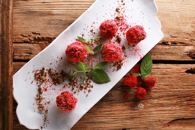 Różowe trufle