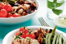 Pieczona polędwiczka wieprzowa z warzywami